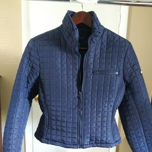 The Limited women's navy quilted jacket size S